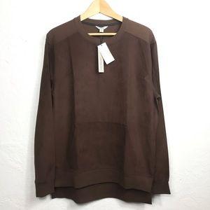 NWT Calvin Klein Brown Long Sleeve Shirt Size M